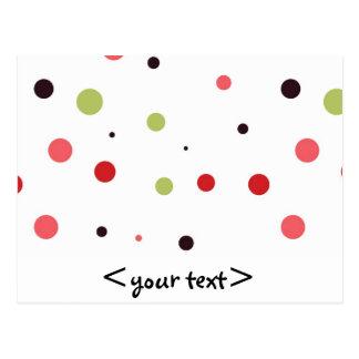 Lunares verdes y negros rosados rojos postales