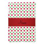 Lunares verdes y rojos conocidos personalizados iPad mini carcasas