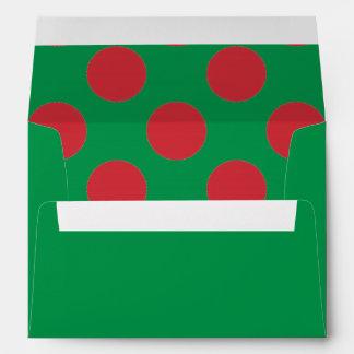 Lunares verdes y rojos