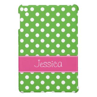 Lunares verdes y rosados de muy buen gusto persona iPad mini funda