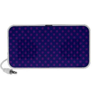 Lunares - violeta oscura en azul marino iPod altavoz