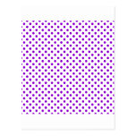 Lunares - violeta oscura en blanco postal