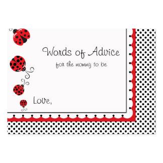 Lunares y consejos lindos de las mariquitas tarjetas de visita grandes