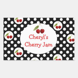 Lunares y etiqueta caprichosos de las cerezas
