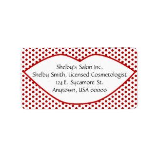 Lunares y etiquetas de dirección de los labios