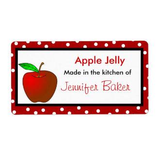 Lunares y etiquetas de la comida de Apple Etiquetas De Envío
