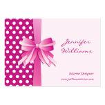 Lunares y interiorista rosados bonitos del arco plantilla de tarjeta personal