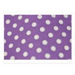 Lunares y joyería púrpuras tarjeta postal