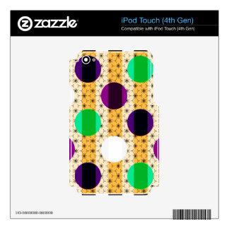 Lunares y regalos frescos del multicolor de las calcomanía para iPod touch 4G