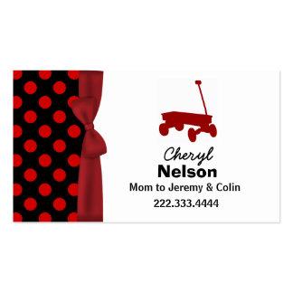 Lunares y tarjeta de la mamá del carro plantillas de tarjeta de negocio