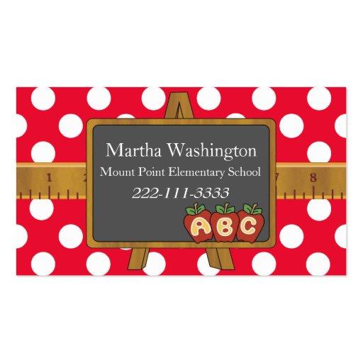 Lunares y tarjeta de la visita del profesor de la tarjetas de visita