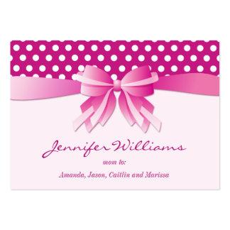 Lunares y tarjetas de visita rosados bonitos de la