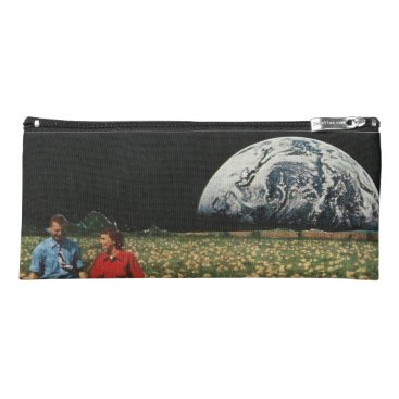 Beach Themed Lunarscape Collage Line Pencil Case