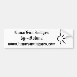 LunarSun logo Bumper Sticker