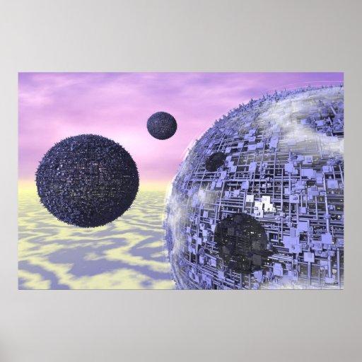 Lunas #17-05 tres: Ciencia ficción azul Poster