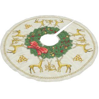 Lunas crecientes y Cernunnos del triple de la Falda Para Arbol De Navidad De Poliéster