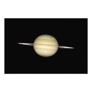 Lunas cuádruples de Saturn en tránsito Fotografía