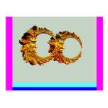 Lunas de oro de Spirt por Sharles Tarjeta Postal