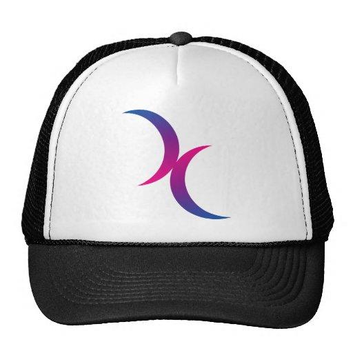 Lunas dobles bisexuales gorras de camionero