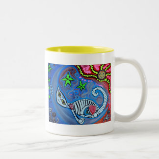 Luna's Dream Cat Fantasy Art Coffee Mugs