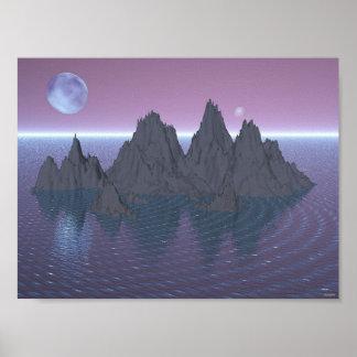 Lunas e islas poster