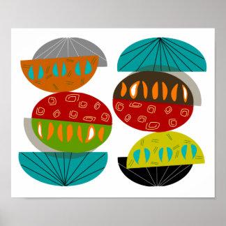 Lunas inspiradas modernas del poster del arte de