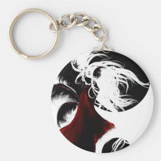Lunas negras: llavero redondo tipo pin