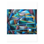 Lunas peligrosos (cubismo colorido) postal