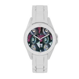 Lunas reflectoras deportivas con el reloj blanco