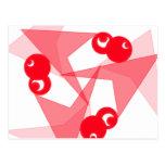 Lunas rojas gráficas postales