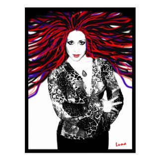 "Luna's Wild Hair (sans ""highlights"") Postcard"