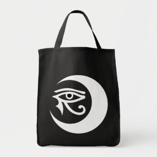 LunaSees Logo Bag (white/black eye on dark bag)