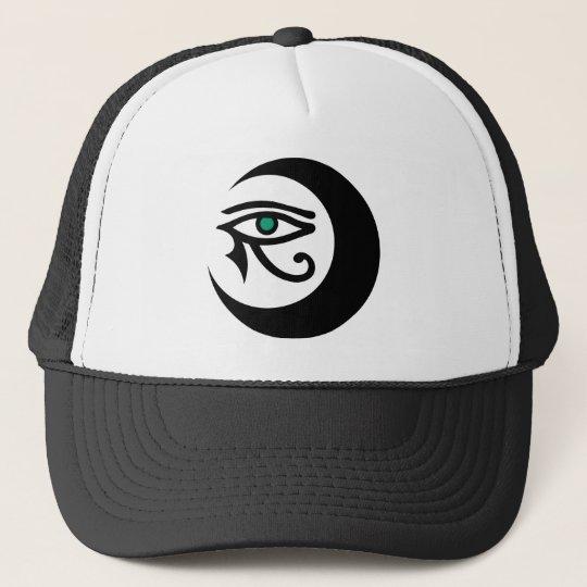 LunaSees Logo Hat (black / jade eye)