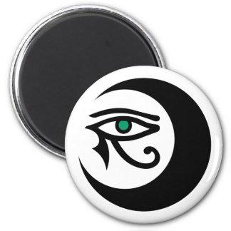 LunaSees Logo Magnet (black / jade eye on white)