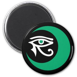 LunaSees Logo Magnet (jade & white / jade eye)