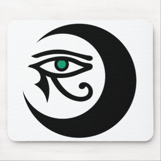 LunaSees Logo Mousepad (black / jade eye)