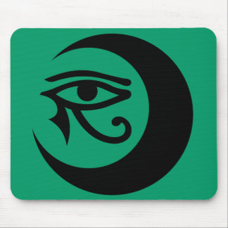 LunaSees Logo Mousepad (black on jade background)