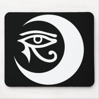 LunaSees Logo Mousepad (white / black eye)