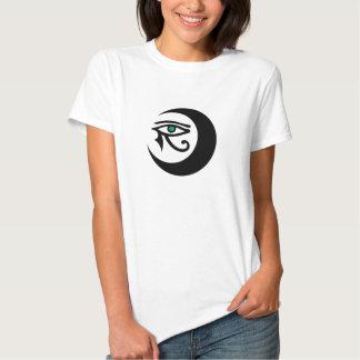 LunaSees Logo Shirt (black/jade eye on light)