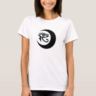 LunaSees Logo Shirt (black/jade eye on light)
