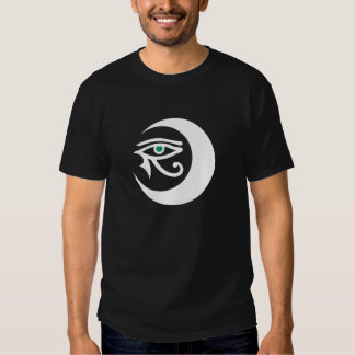 LunaSees Logo Shirt (white/jade eye on dark)
