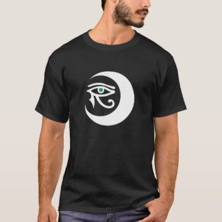 LunaSees Logo Shirt (white/jade eye on dark)