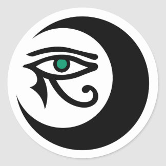 LunaSees Logo Sticker (black / jade eye)