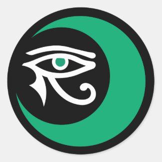 LunaSees Logo Sticker (jade & white / jade eye)