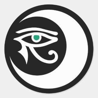 LunaSees Logo Sticker (white / jade eye)