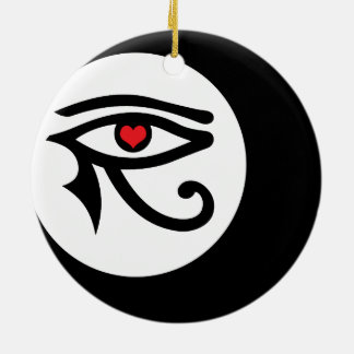 LunaSees Love Round Ornament (2-sided)