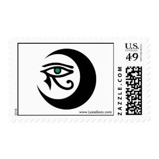 LunaSees Postage (black / jade eye)