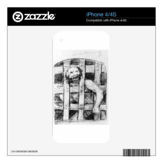 Lunatic behind Bars by Francisco Goya iPhone 4S Skins
