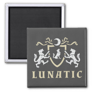 Lunatic Howling Wolf Magnet