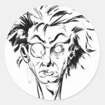 lunatic round sticker